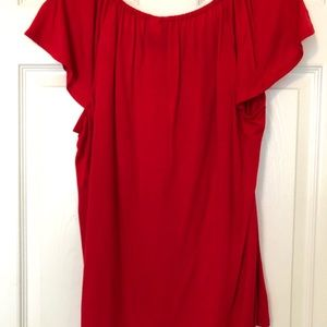 new directions Tops - New Directions Red Dressy Tee With Embellisments